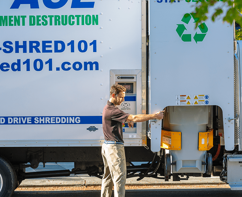 We Shred It Right On Our Trucks in Washington DC | Shred Ace